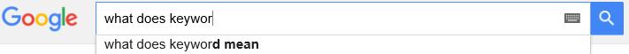 Keyword Google
