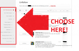Unfollow on Twitter