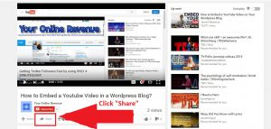 How to embed a youtube video in a wordpress blog