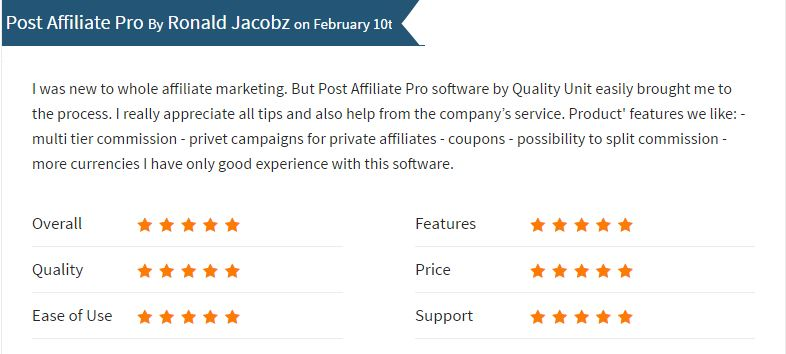 What is Post Affiliate Pro