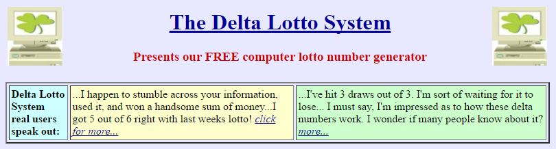 the delta lotto system