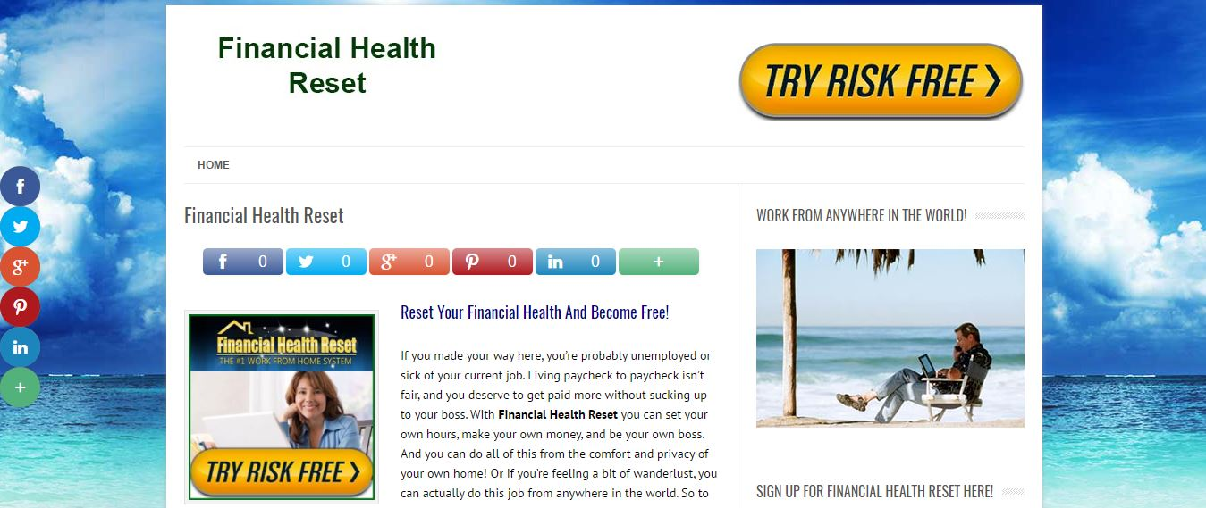 is financial health reset a scam