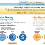 Amazon Mechanical Turk Homepage