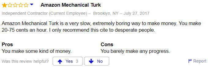 Amazon Mechanical Turk Complaints
