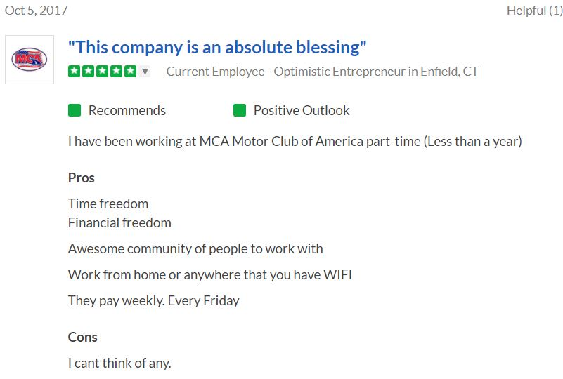 motor club of america glassdoor review