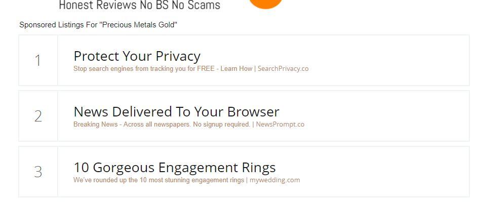 Media.net Landing Page