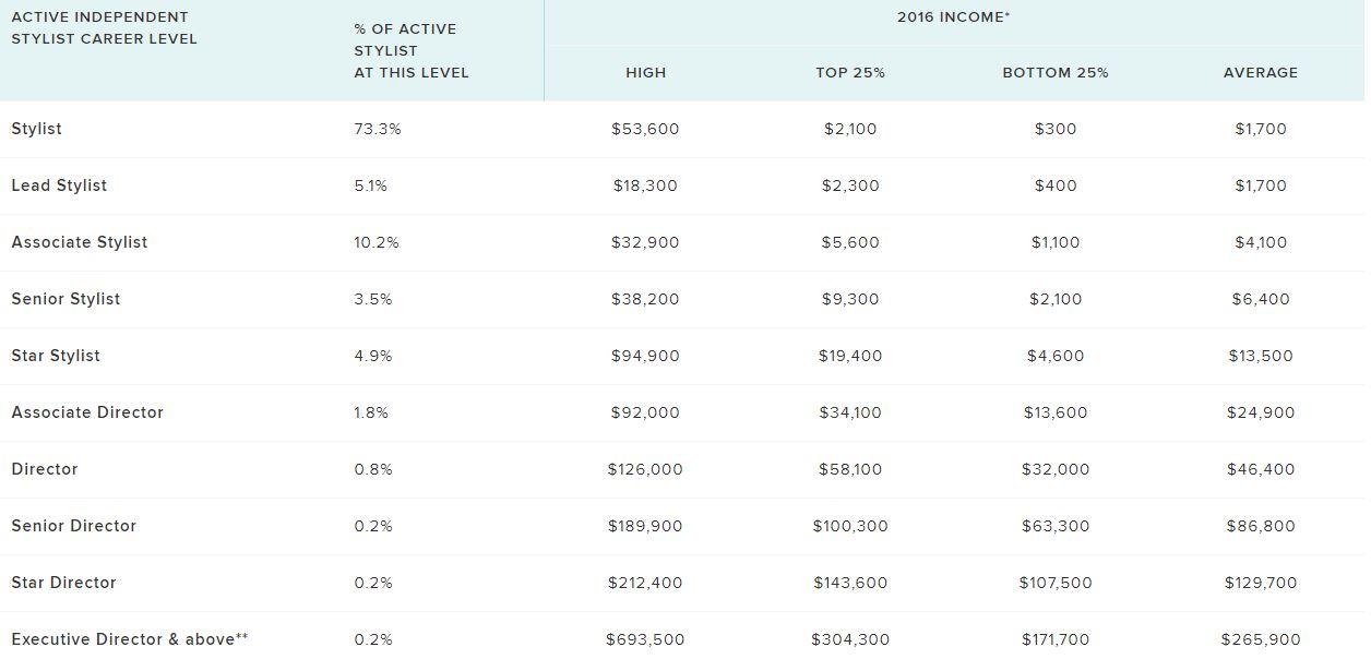 stella and dot income disclosure statement