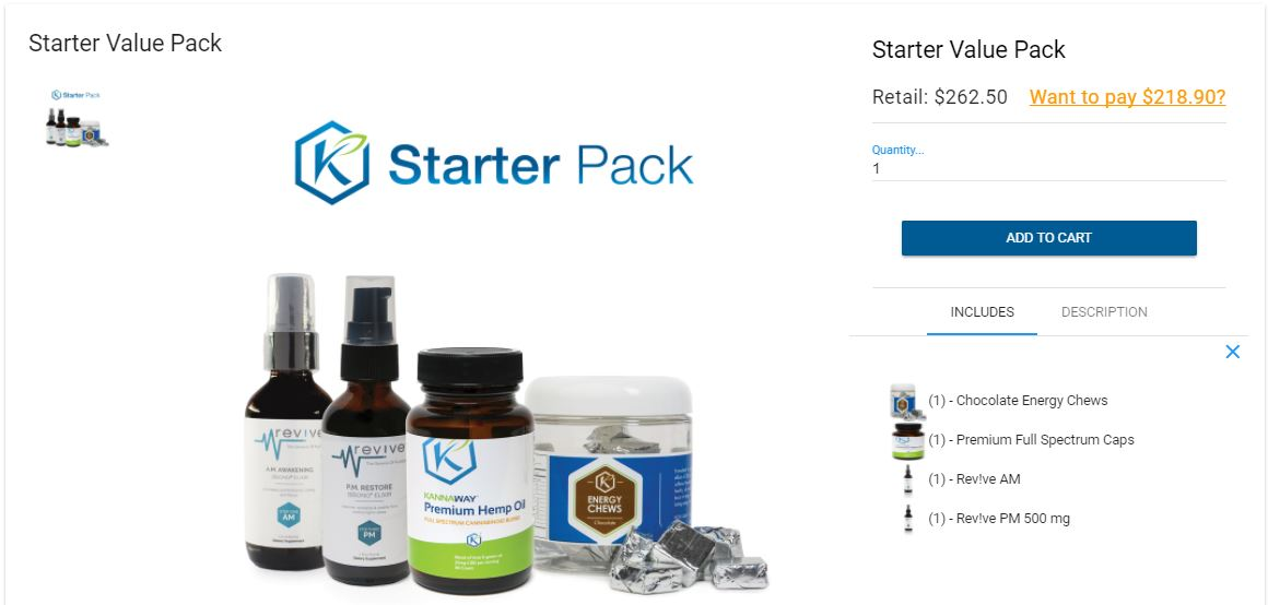 kannaway products - starter pack