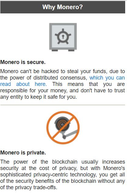 Benefits of Monero