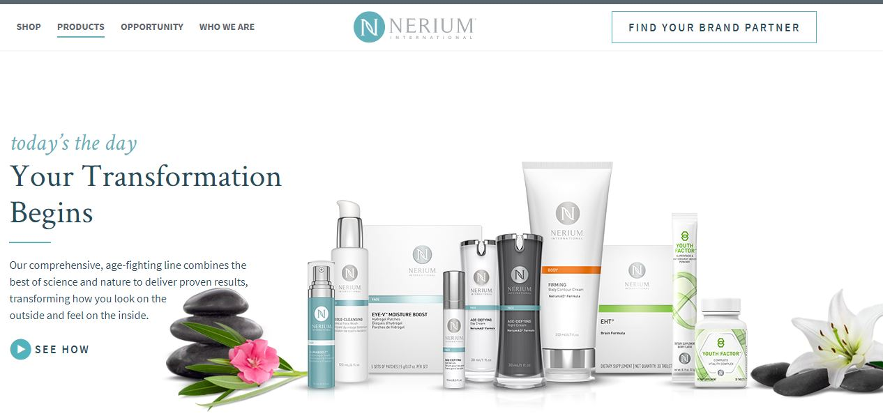 nerium international homepage