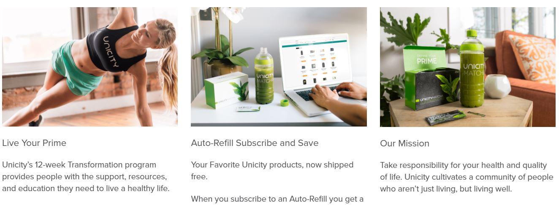 unicity homepage