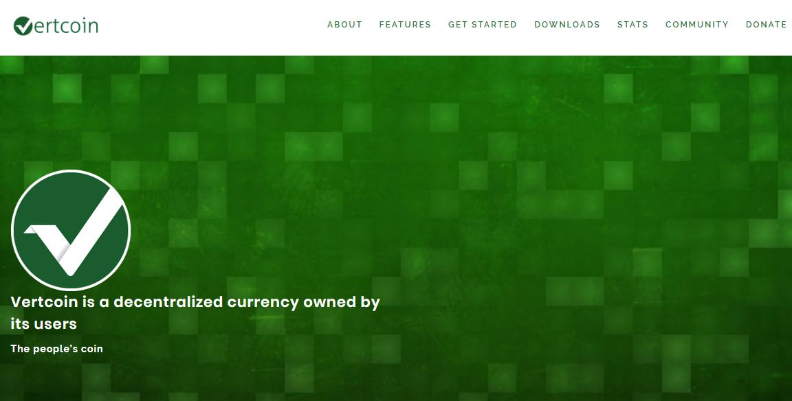vertcoin homepage