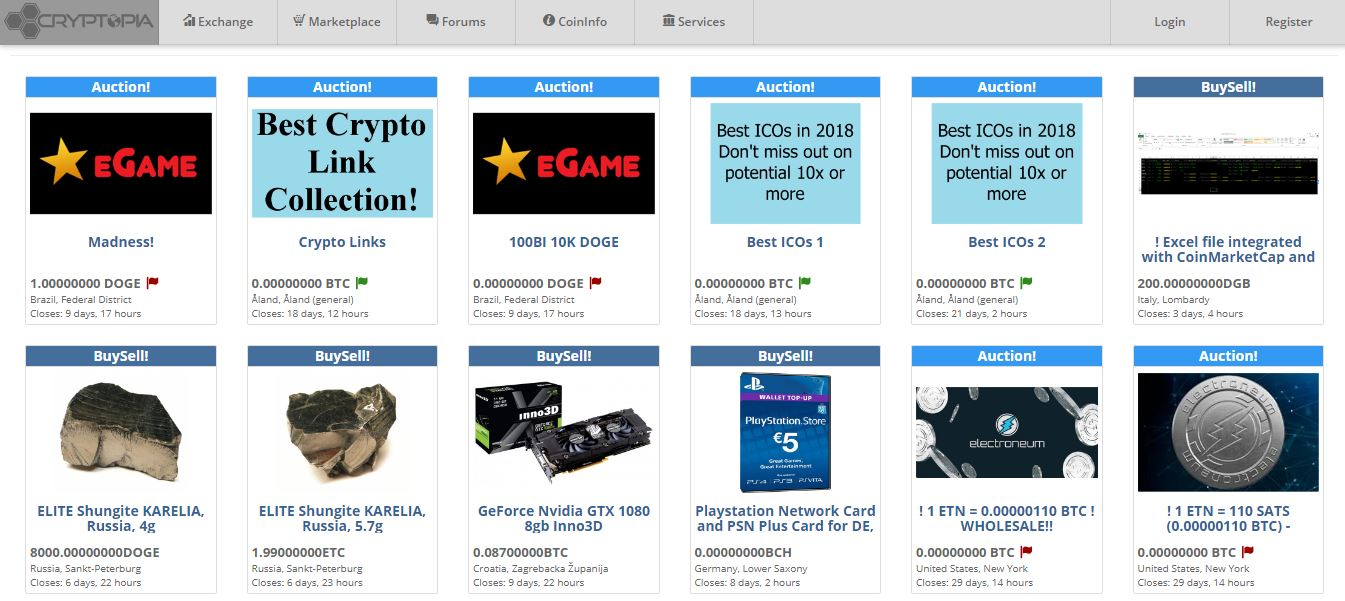 Cryptopia Marketplace