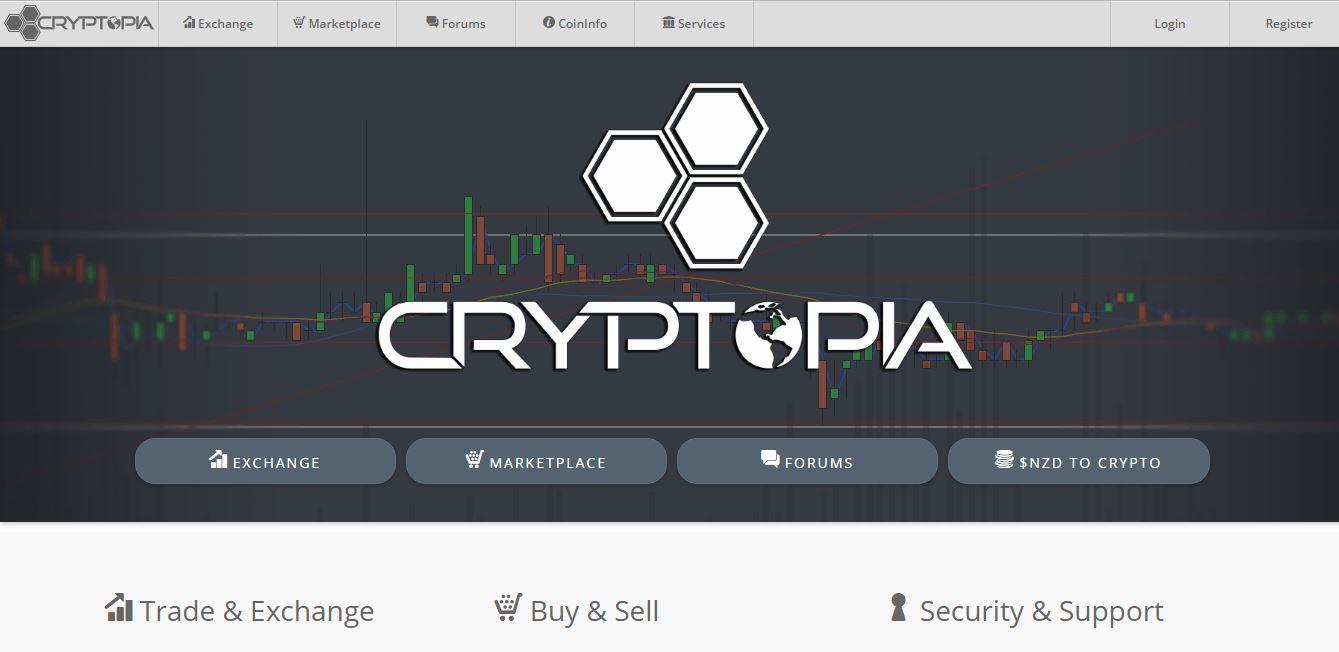 Cryptopia Homepage