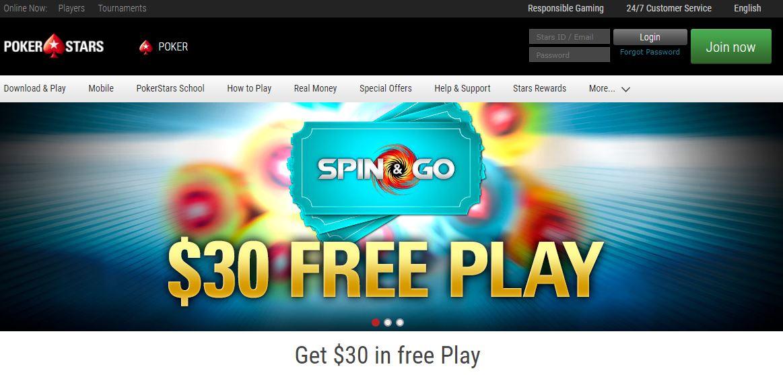 pokerstars homepage