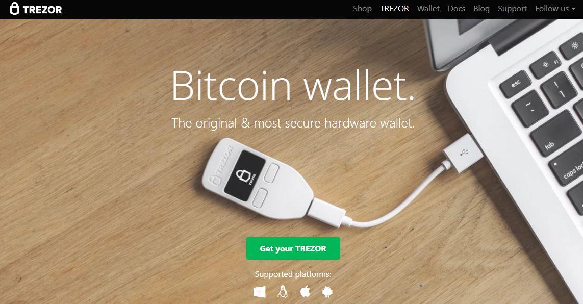 Trezor bicoin wallet homepage