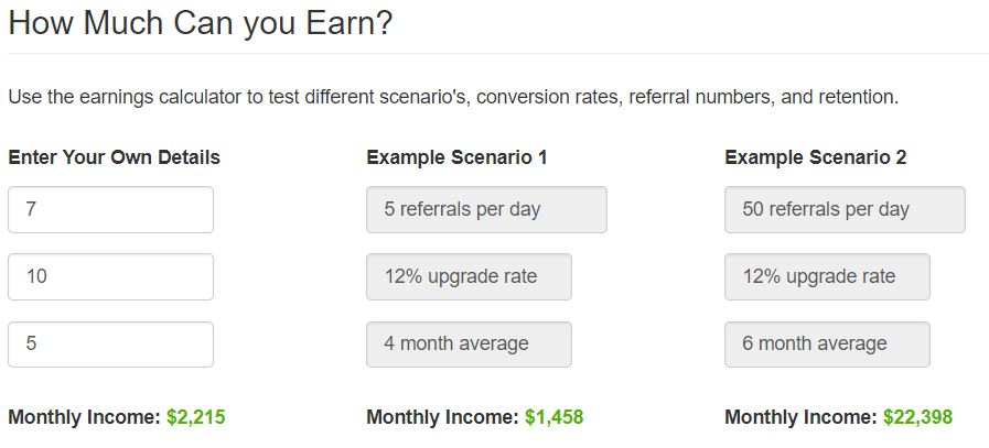 Wealthy Affiliate income examples