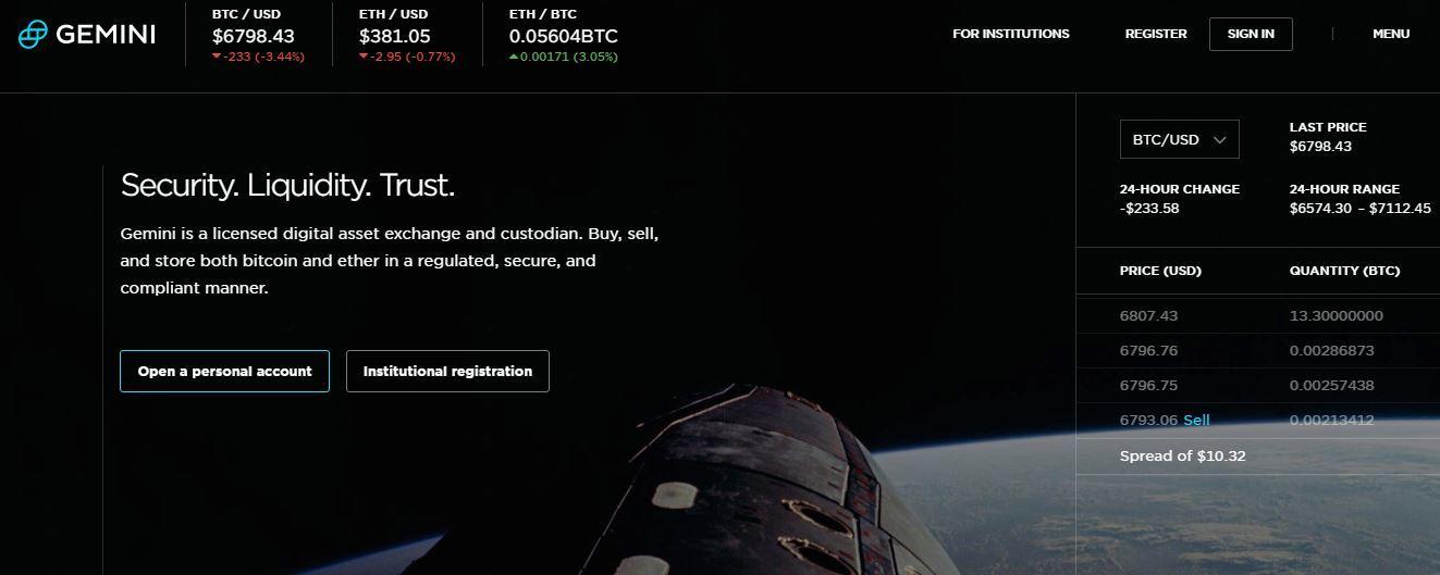 Gemini homepage