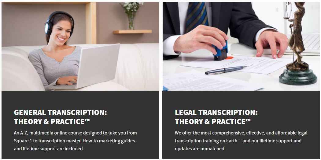 transcribe anywhere courses
