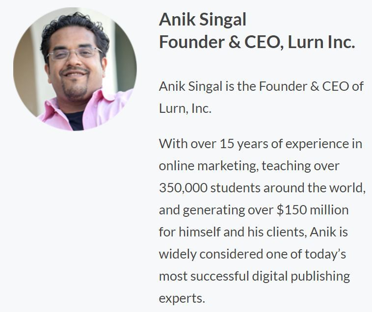 Anik Singal, the founder of fb academy