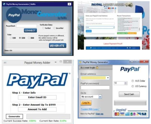 paypal money adder software above