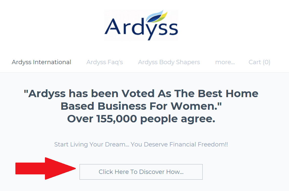 Ardyss International Scam Exposed Membership Button