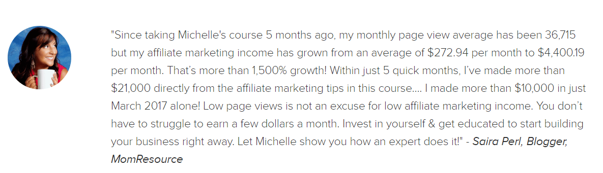 Making Sense Affiliate Marketing Class Review 1