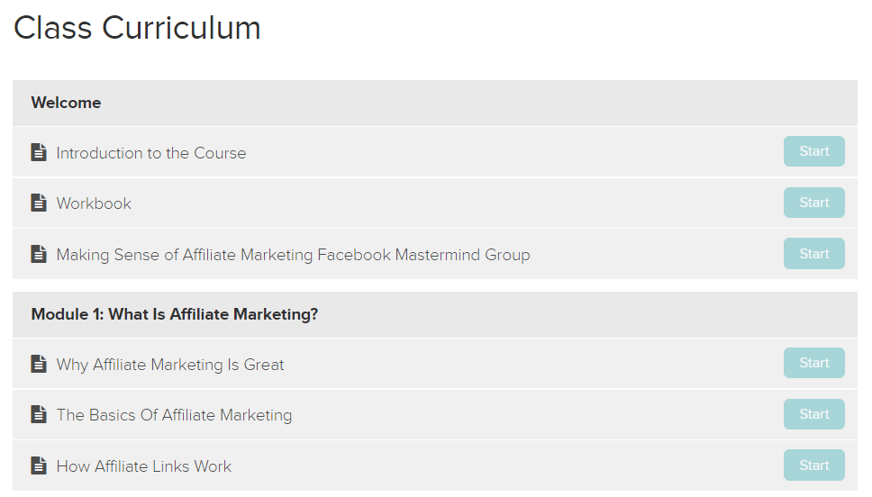 Making Sense of Affiliate Marketing Class Module 1