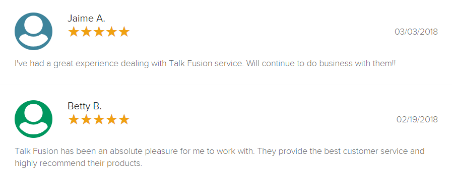 Talk Fusion Review Positive