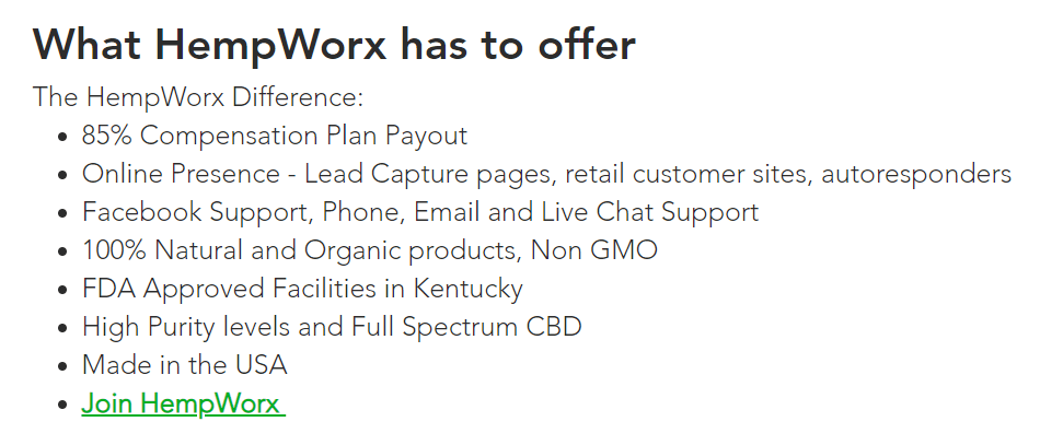 Hempworx Scam Compensation Plan