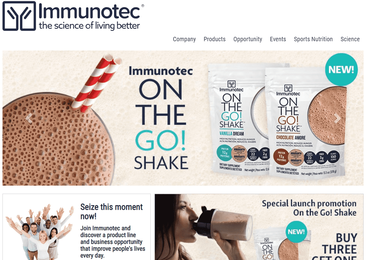 Is Immunotec A Scam Landing Page-min