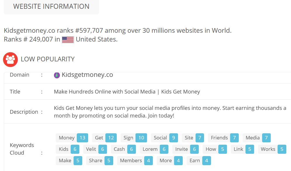 Is Kids Get Money A Scam Or Legit Website Info