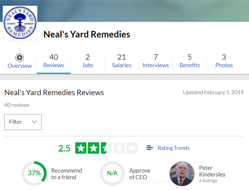 Neal Yard Remedies Reviews Glassdoor