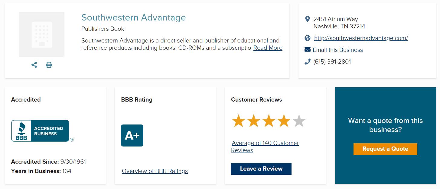 Southwestern Advantage Scam BBB Summary
