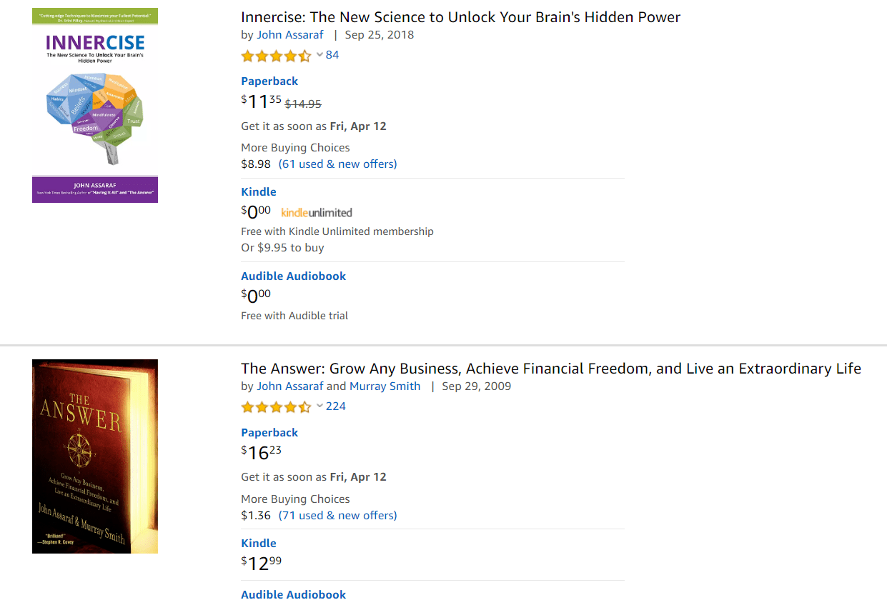 Is John Assaraf A Scam Artist Amazon - Your Online Revenue-min