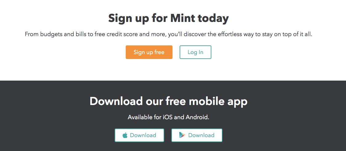 Mint.Com Review Sign up