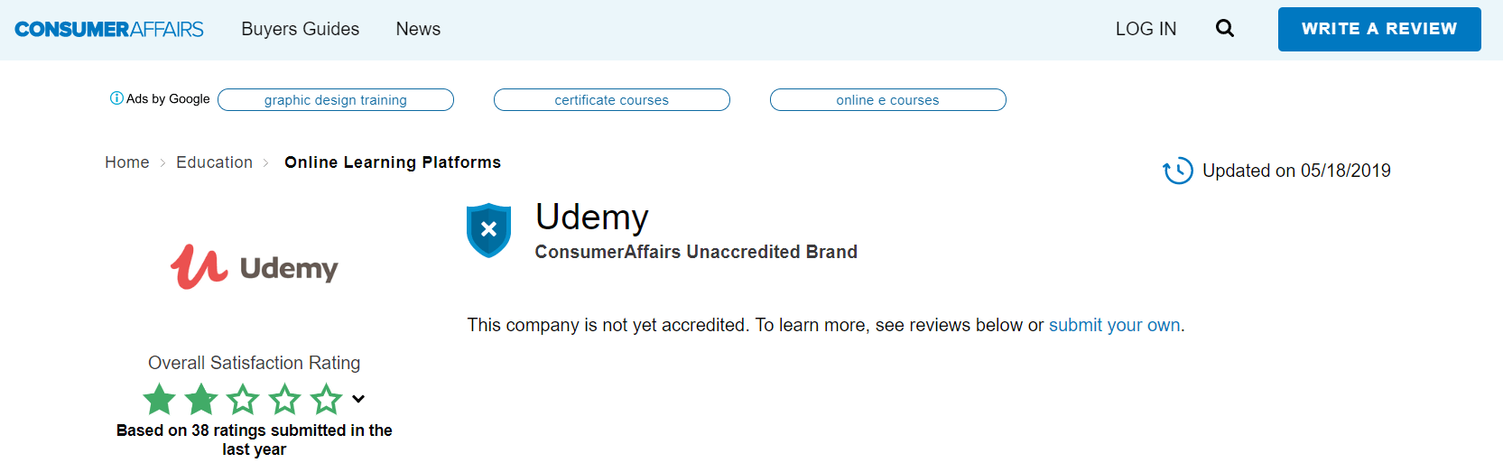 Does Udemy Work Consumer Affairs