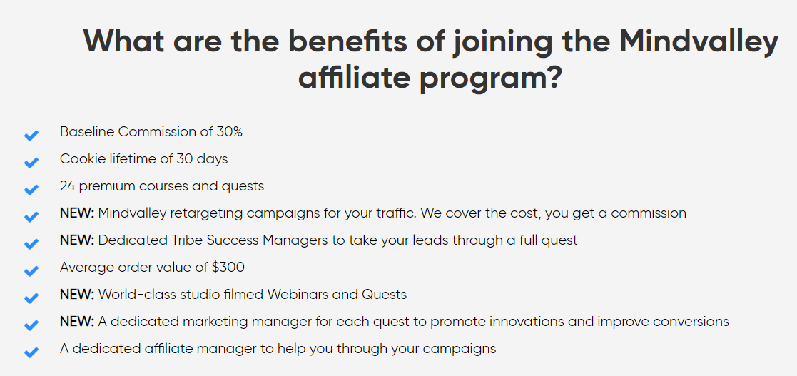 MindValley Review Affiliate Benefits