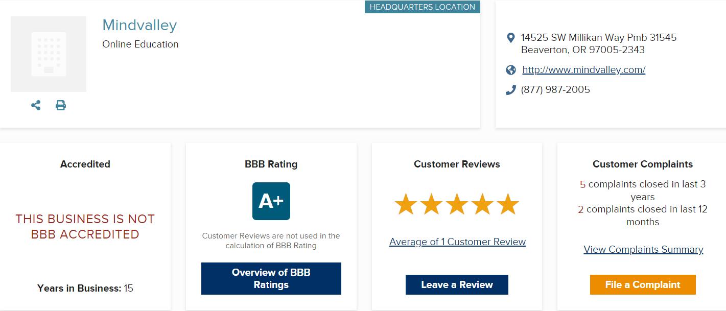 MindValley Review BBB