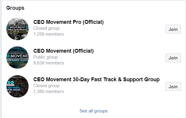 Is CEO Movement A Scam Facebook Groups
