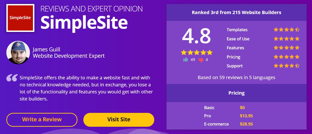 SimpleSite Review Website Developer-min