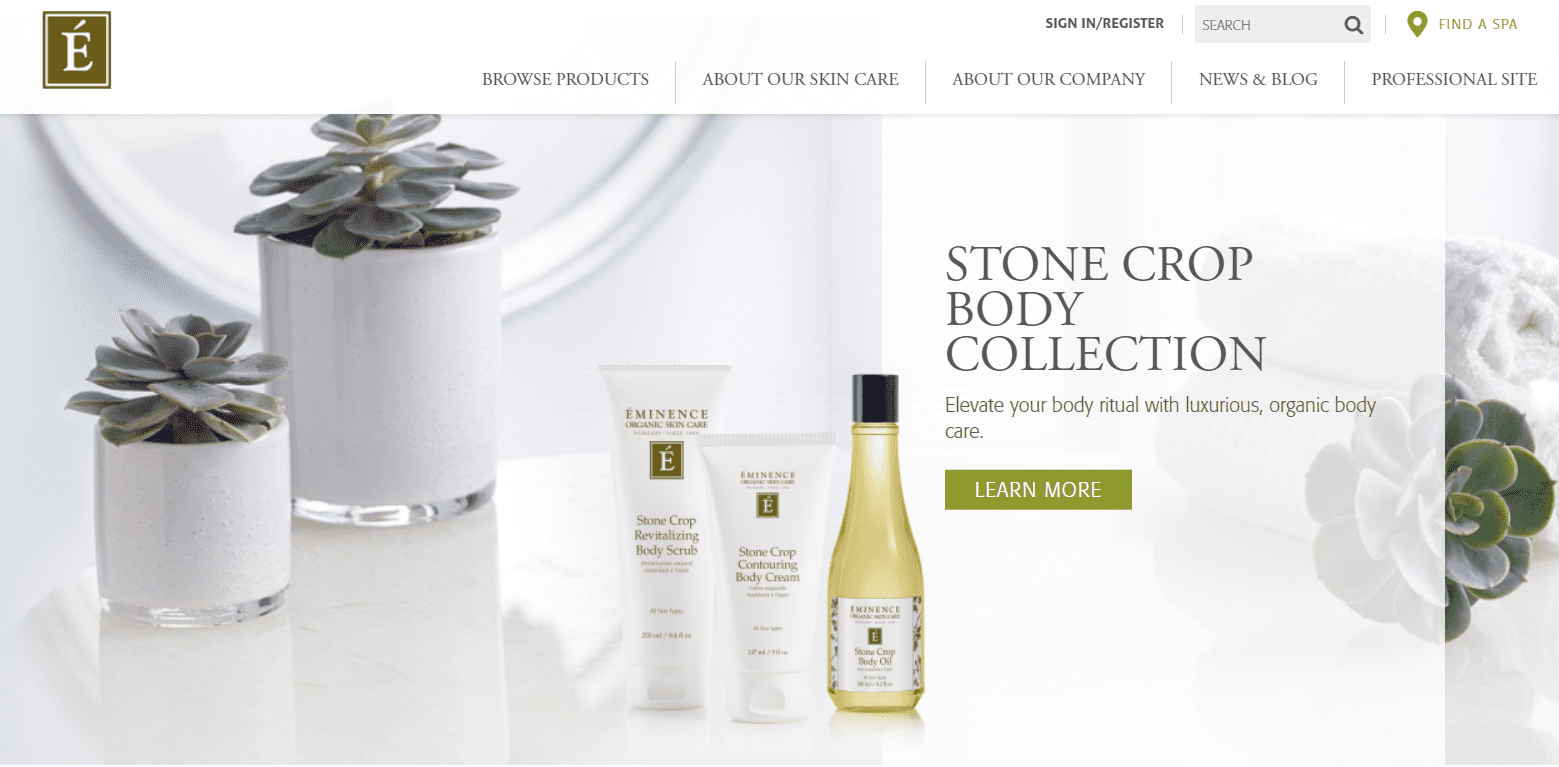 Eminence Skin Care Reviews Landing Page-min