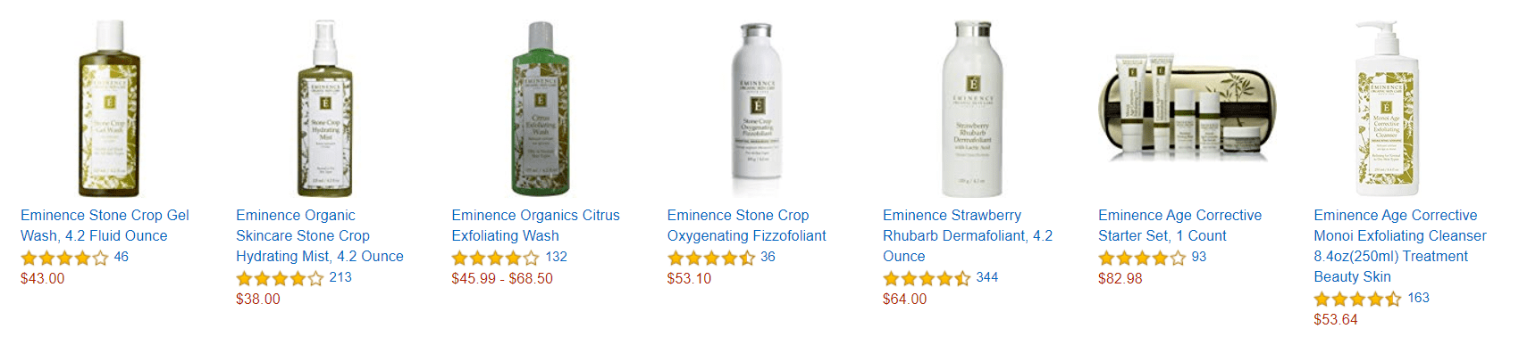 Eminence Skin Care Reviews Products on Amazon-min