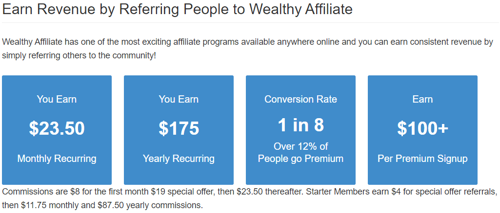 Wealthy Affiliate Revenue Summary