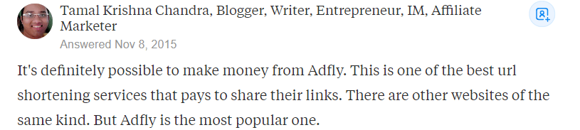 AdFly Review Review Positive