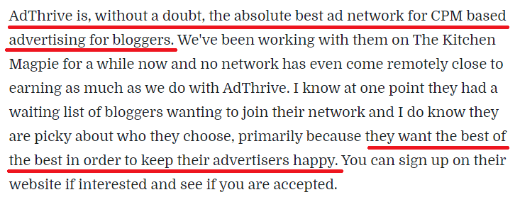 AdThrive Review Site Blogger Feedback
