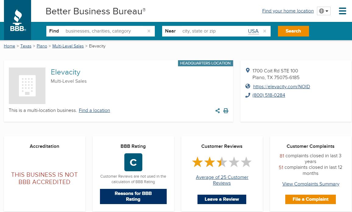Elevacity Reviews BBB