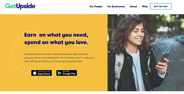 GetUpside Reviews Landing Page