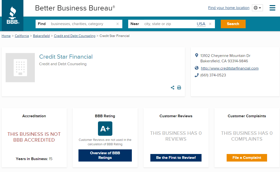 Is Credit Star Funding A Scam BBB