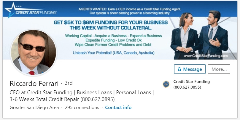 Is Credit Star Funding A Scam CEO